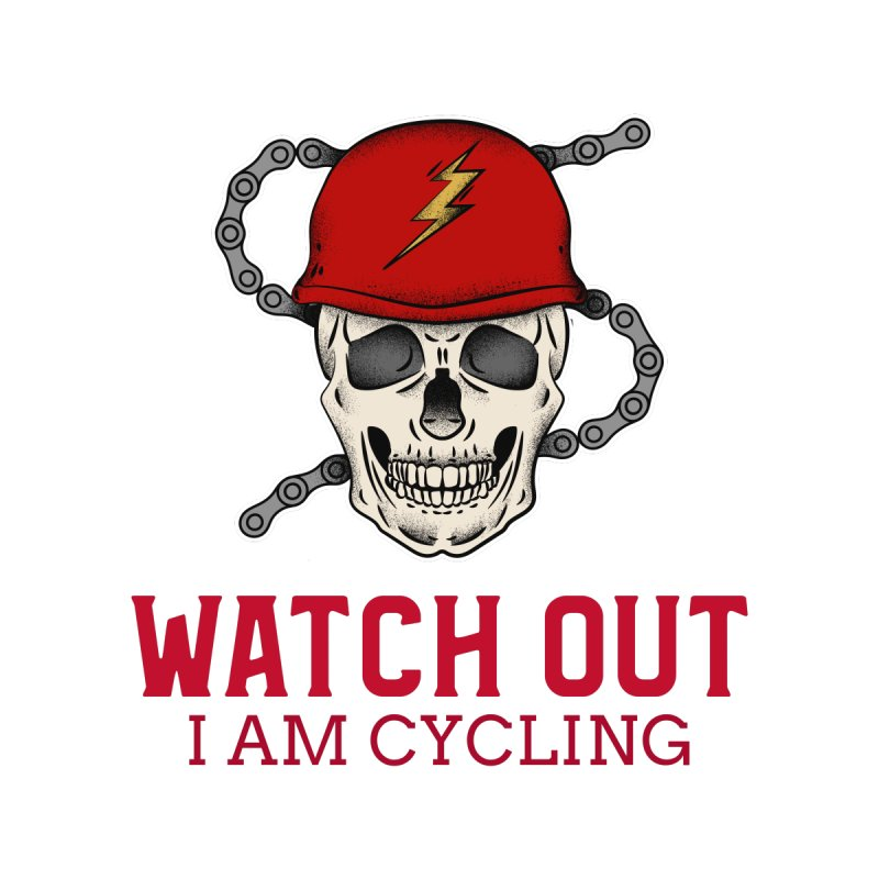 Watch Out I Am Cycling Men's T-Shirt by Indigoave Artist Shop