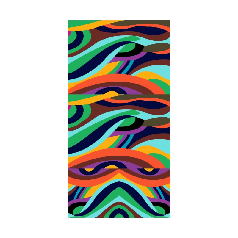 Rainbow Stripes Accessories Bag by Indigoave Artist Shop