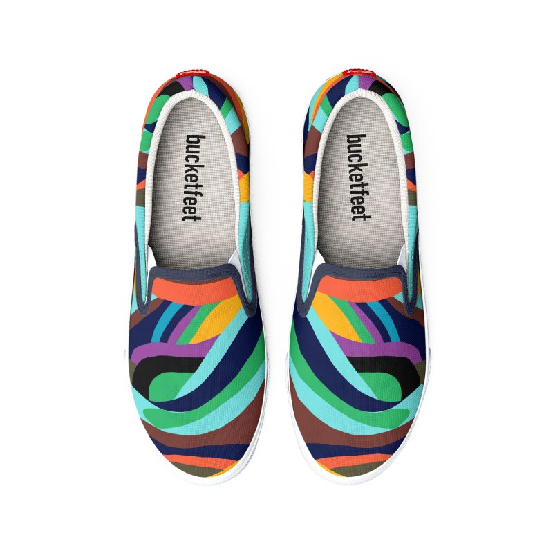 Rainbow Stripes Men's Shoes by Indigoave Artist Shop