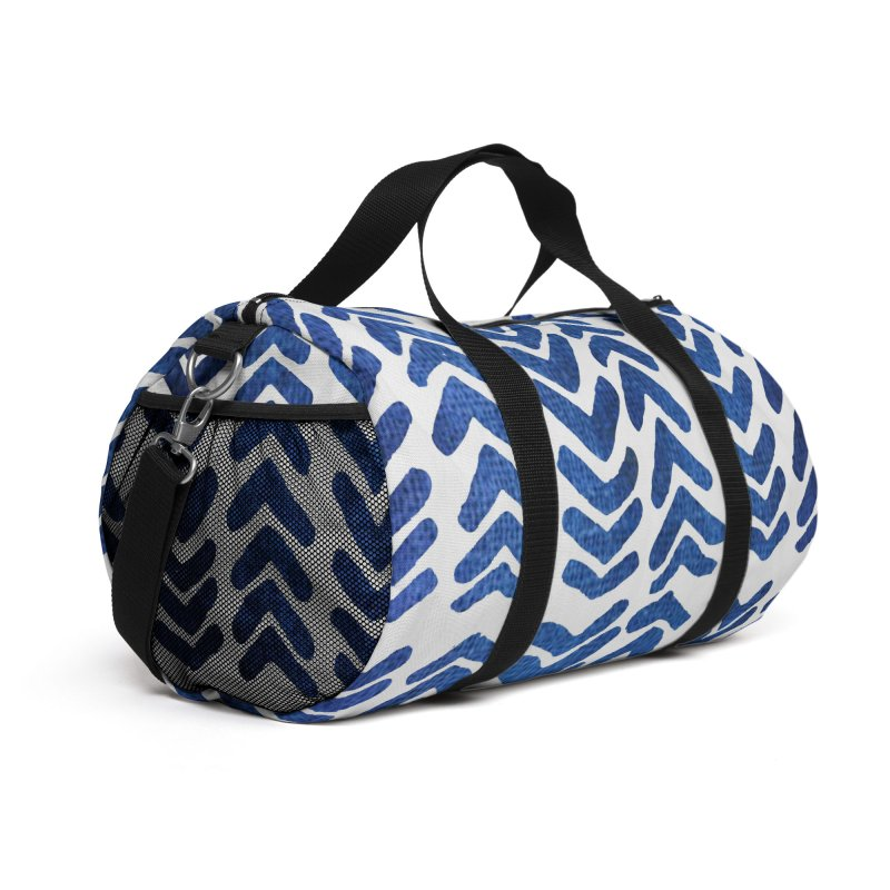 Blue Arrows Accessories Bag by Indigoave Artist Shop