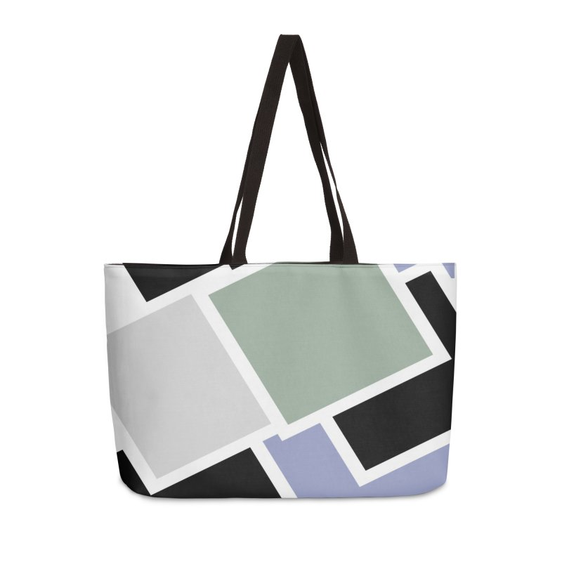 Geometric Cubes Accessories Bag by Indigoave Artist Shop