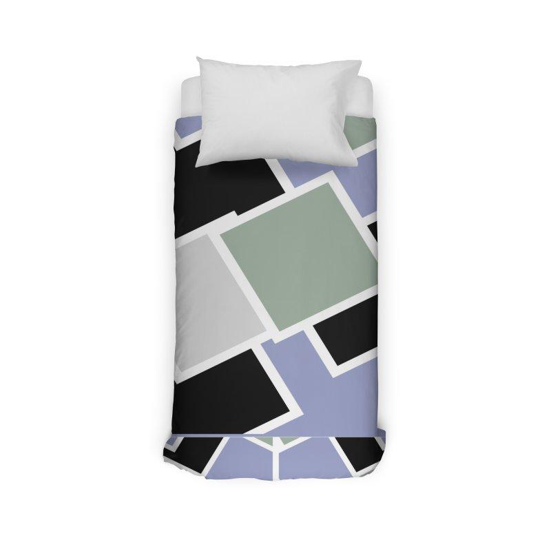 Geometric Cubes Home Duvet by Indigoave Artist Shop
