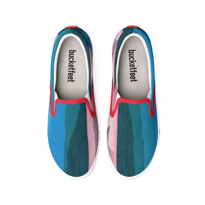 JAPANESE LANDSCAPE Men's Shoes by Indigoave Artist Shop