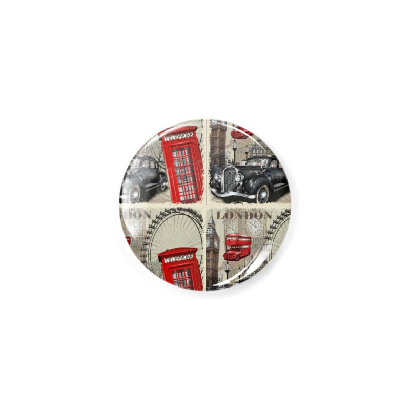 LONDON CITY Accessories Button by Indigoave Artist Shop