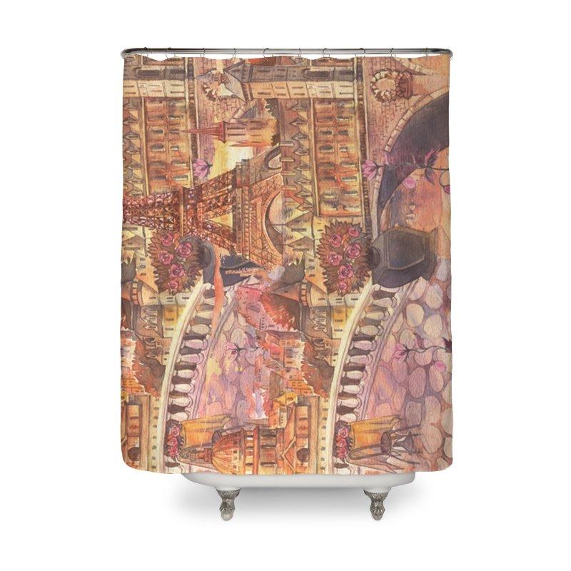 PARIS CITY Home Shower Curtain by Indigoave Artist Shop