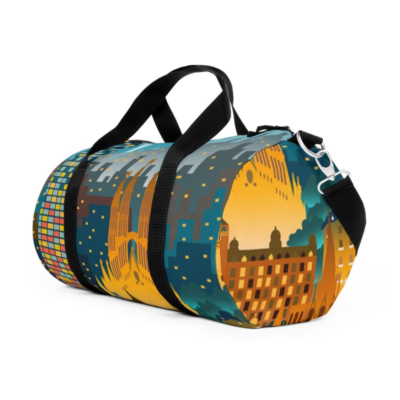 BARCELONA CITY Accessories Bag by Indigoave Artist Shop