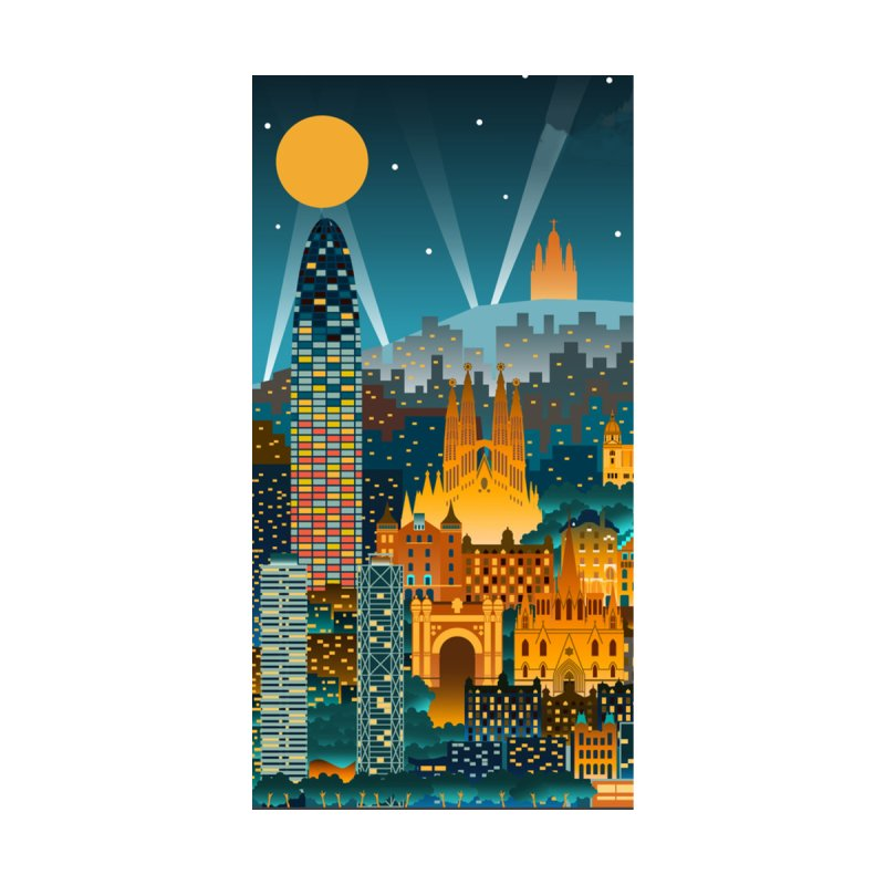 BARCELONA CITY Accessories Beach Towel by Indigoave Artist Shop