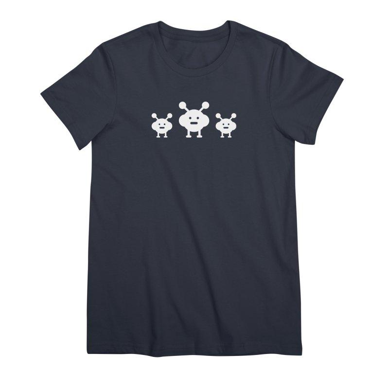 CUTE ALIENS Women's T-Shirt by Indigoave Artist Shop
