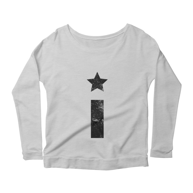 "Distressed ""I"" Indivisible Logo Women's Longsleeve Scoopneck  by Shop Indivisible"