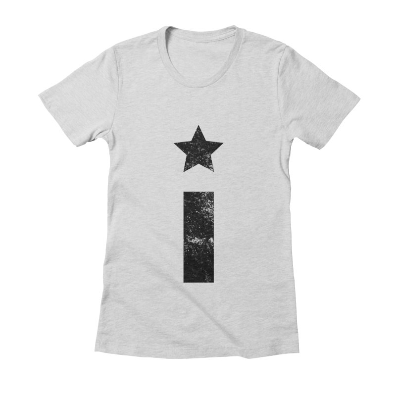 "Distressed ""I"" Indivisible Logo Women's Fitted T-Shirt by Shop Indivisible"