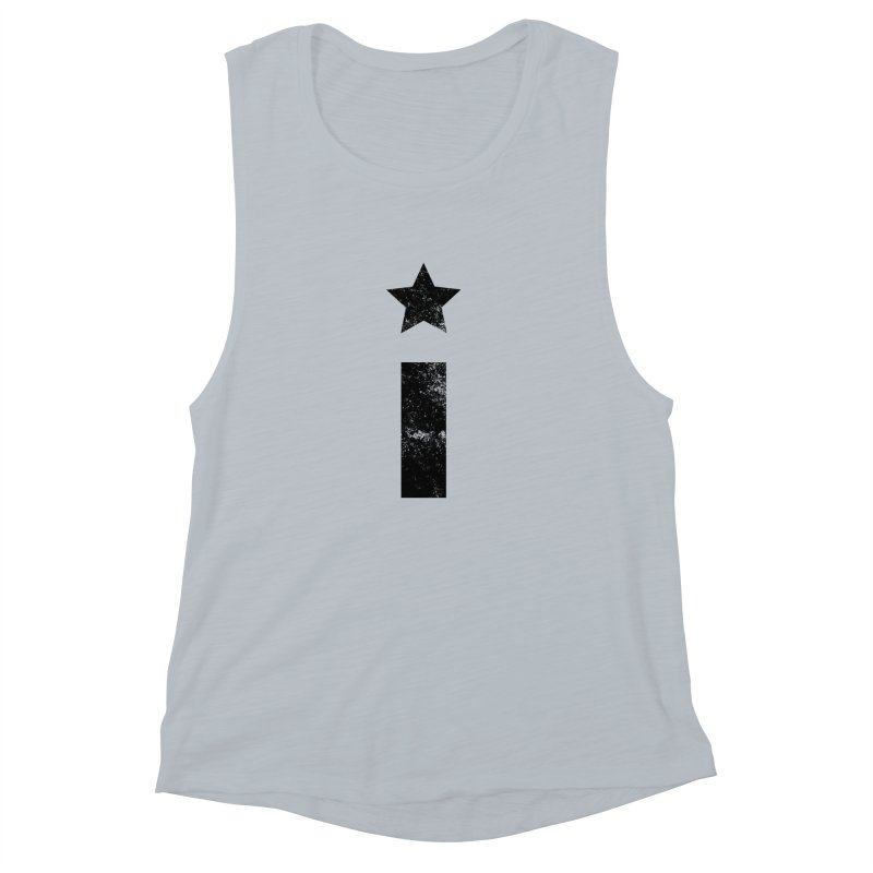 """Distressed """"I"""" Indivisible Logo Women's Muscle Tank by Shop Indivisible"""