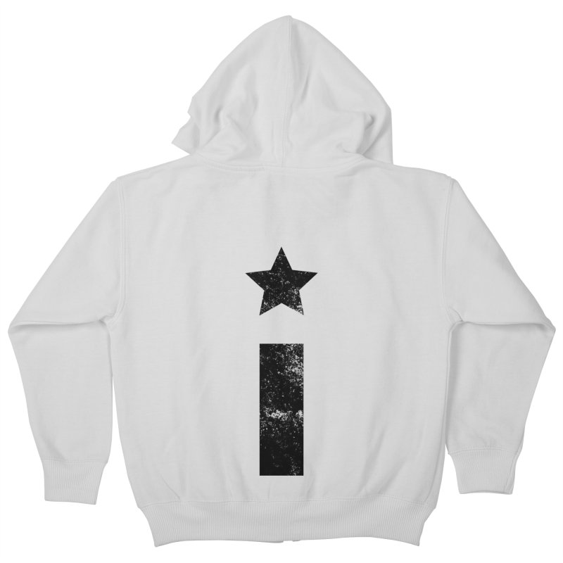 "Distressed ""I"" Indivisible Logo Kids Zip-Up Hoody by Shop Indivisible"