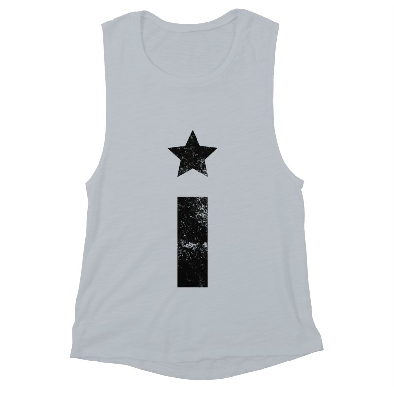 "Distressed ""I"" Indivisible Logo Women's Muscle Tank by Shop Indivisible"