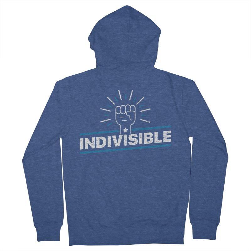 "Indivisible ""Take Action"" Resistance T-Shirt Men's Zip-Up Hoody by Shop Indivisible"