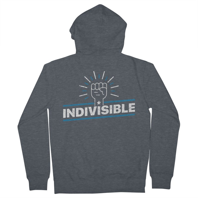 "Indivisible ""Take Action"" Resistance T-Shirt Men's French Terry Zip-Up Hoody by Shop Indivisible"