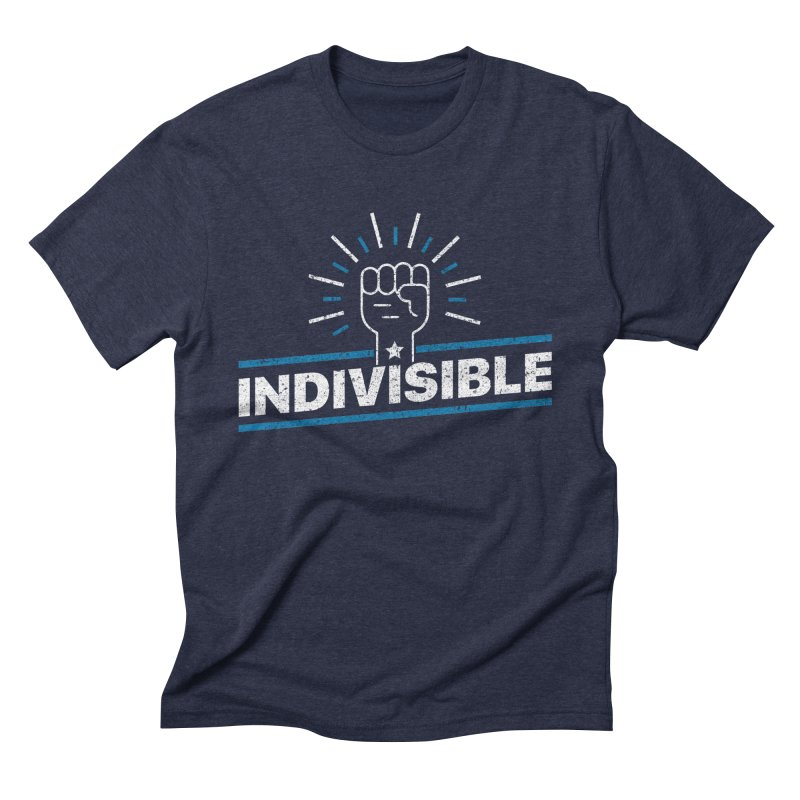 "Indivisible ""Take Action"" Resistance T-Shirt Men's Triblend T-Shirt by Shop Indivisible"