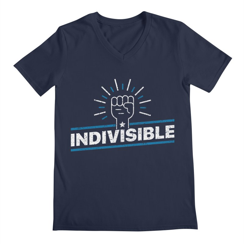 "Indivisible ""Take Action"" Resistance T-Shirt Men's V-Neck by Shop Indivisible"