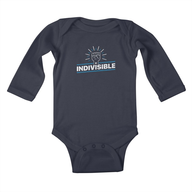 "Indivisible ""Take Action"" Resistance T-Shirt Kids Baby Longsleeve Bodysuit by Shop Indivisible"