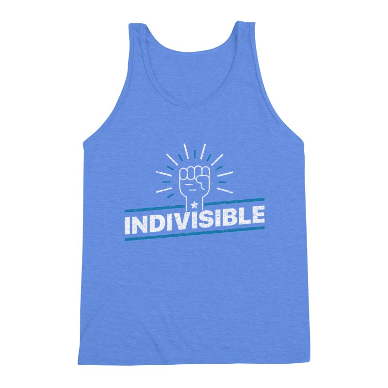 """Indivisible """"Take Action"""" Resistance T-Shirt Men's Tank by Shop Indivisible"""