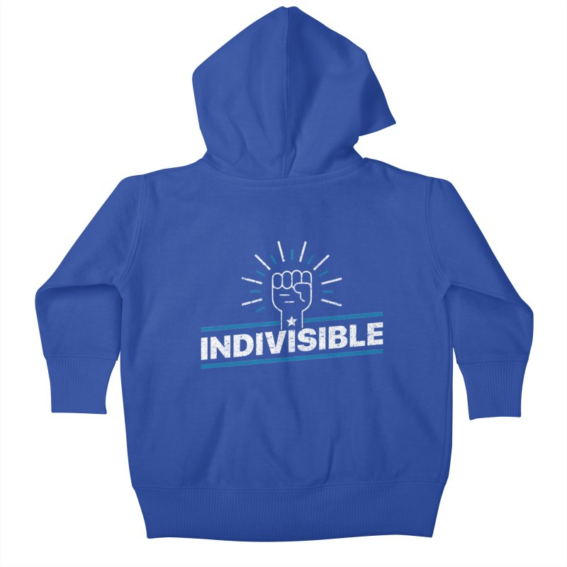 "Indivisible ""Take Action"" Resistance T-Shirt Kids Baby Zip-Up Hoody by Shop Indivisible"