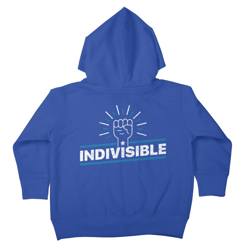 "Indivisible ""Take Action"" Resistance T-Shirt Kids Toddler Zip-Up Hoody by Shop Indivisible"