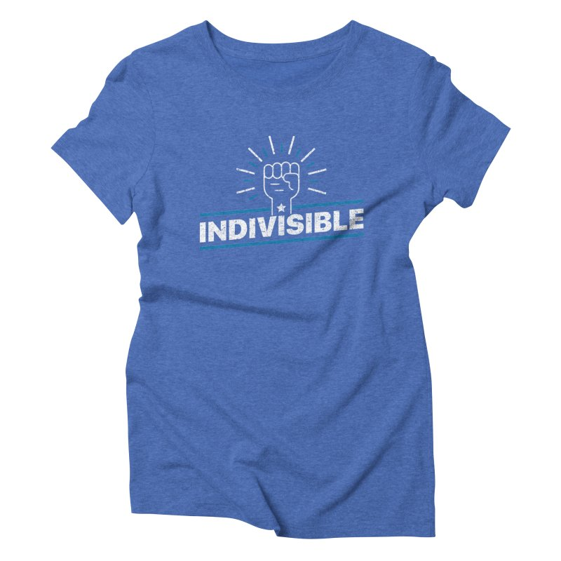 "Indivisible ""Take Action"" Resistance T-Shirt Women's Triblend T-Shirt by Shop Indivisible"