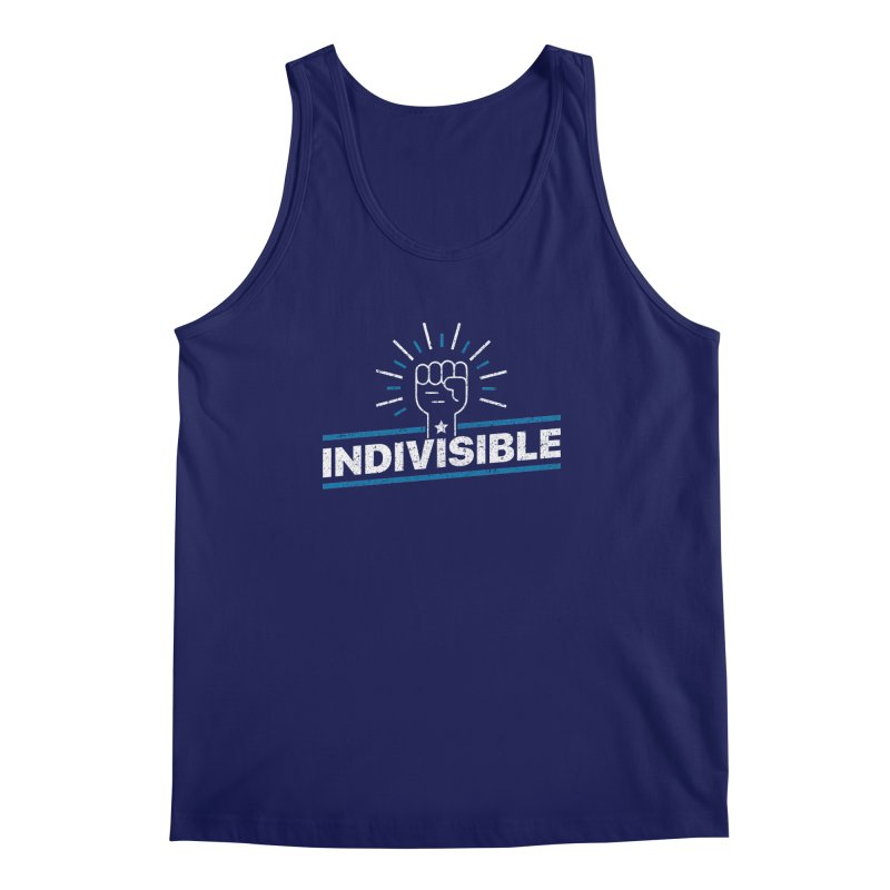 "Indivisible ""Take Action"" Resistance T-Shirt Men's Regular Tank by Shop Indivisible"