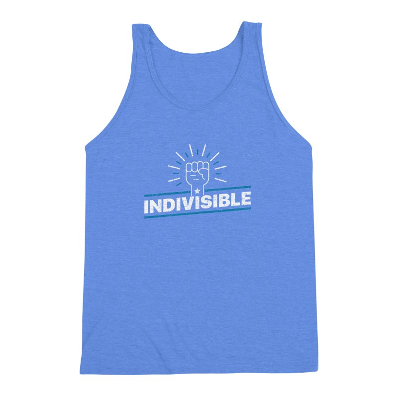 "Indivisible ""Take Action"" Resistance T-Shirt Men's Triblend Tank by Shop Indivisible"