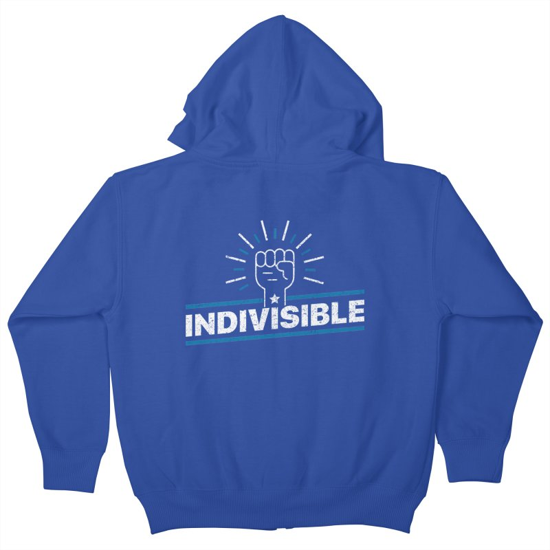 "Indivisible ""Take Action"" Resistance T-Shirt Kids Zip-Up Hoody by Shop Indivisible"