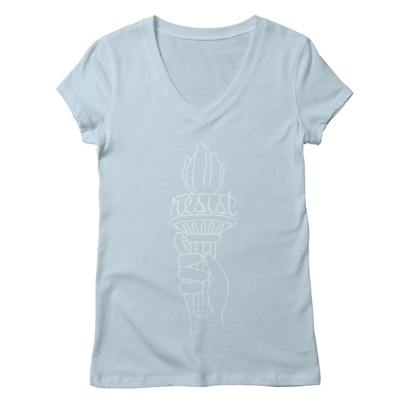 Resist - A Shirt Inspired by the Indivisible Guide Women's V-Neck by Shop Indivisible