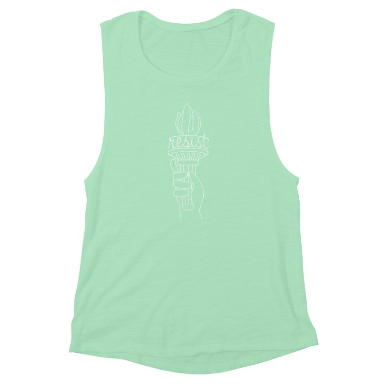 Resist - A Shirt Inspired by the Indivisible Guide Women's Muscle Tank by Shop Indivisible