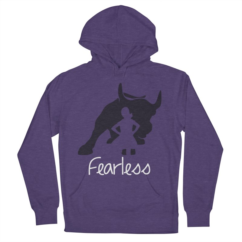 Fearless Girl Men's French Terry Pullover Hoody by Shop Indivisible