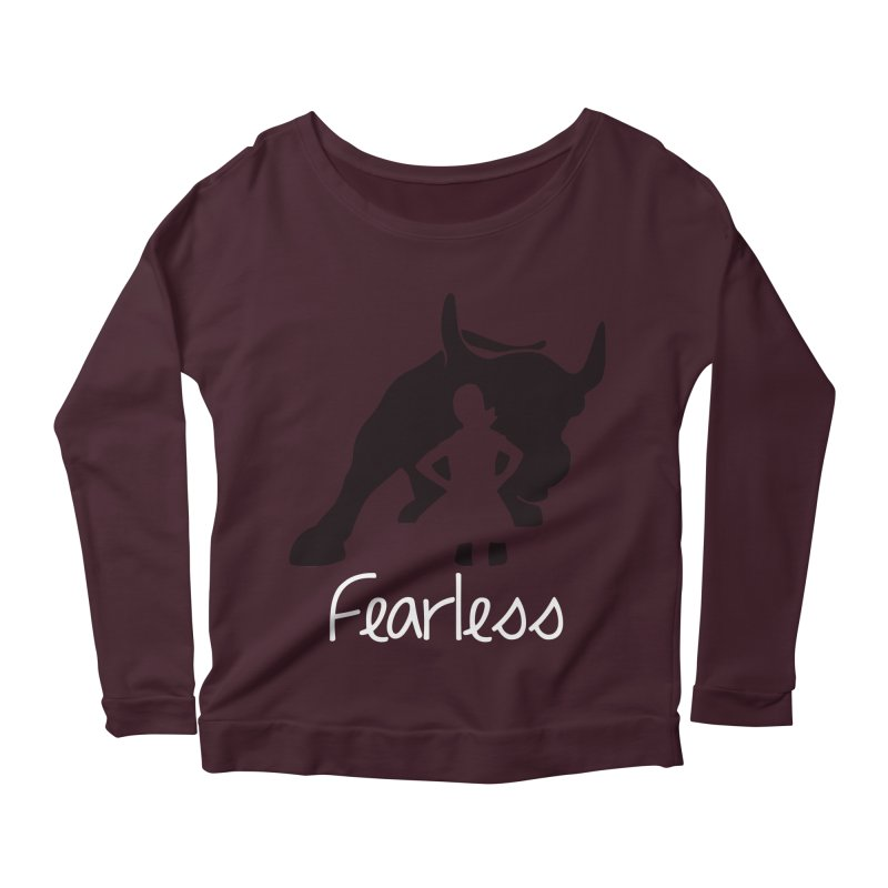 Fearless Girl Women's Scoop Neck Longsleeve T-Shirt by Shop Indivisible
