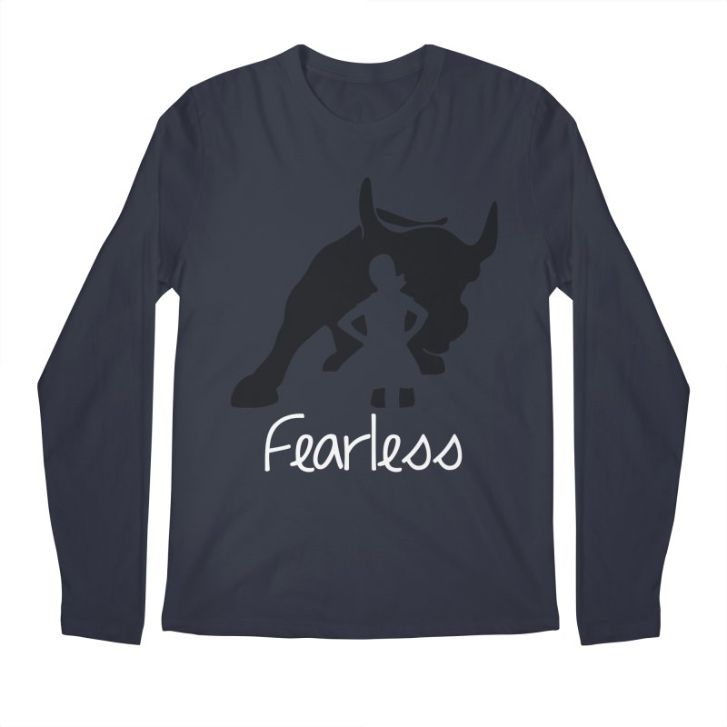 Fearless Girl Men's Regular Longsleeve T-Shirt by Shop Indivisible