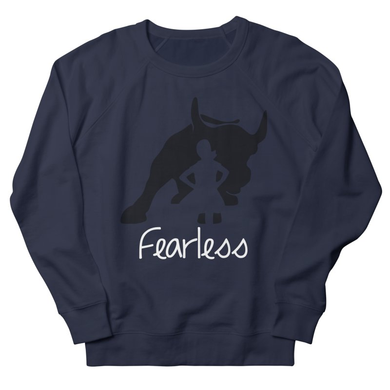 Fearless Girl Women's French Terry Sweatshirt by Shop Indivisible