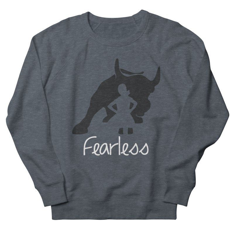 Fearless Girl Men's French Terry Sweatshirt by Shop Indivisible