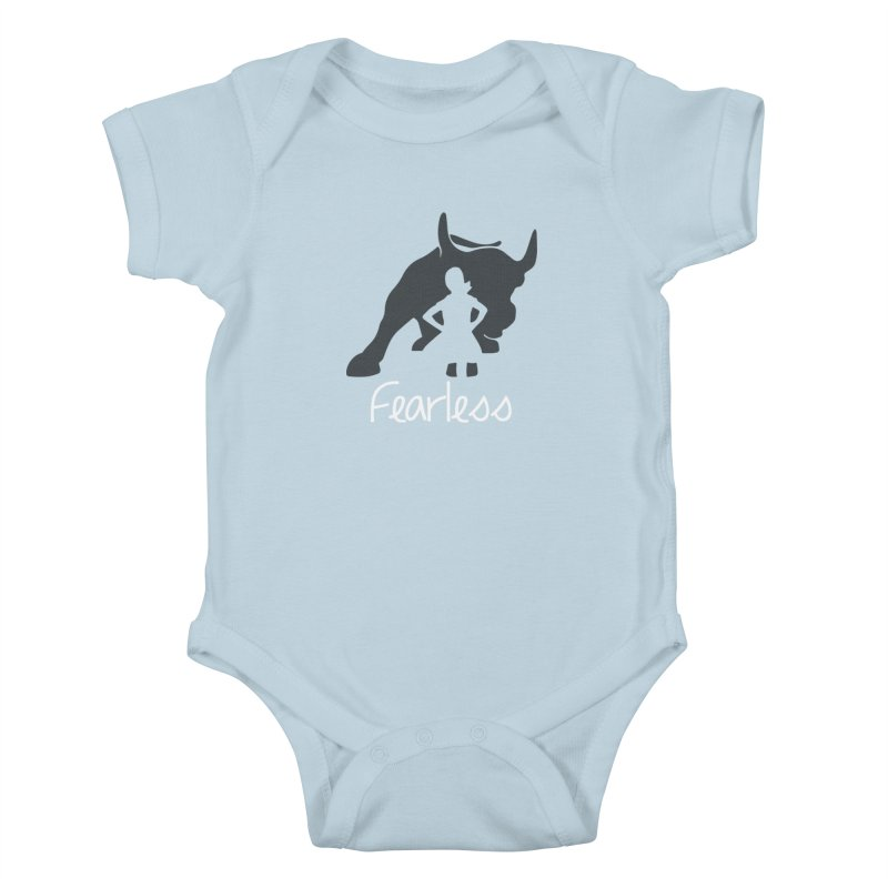 Fearless Girl Kids Baby Bodysuit by Shop Indivisible