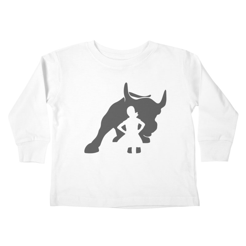 Fearless Girl Kids Toddler Longsleeve T-Shirt by Shop Indivisible