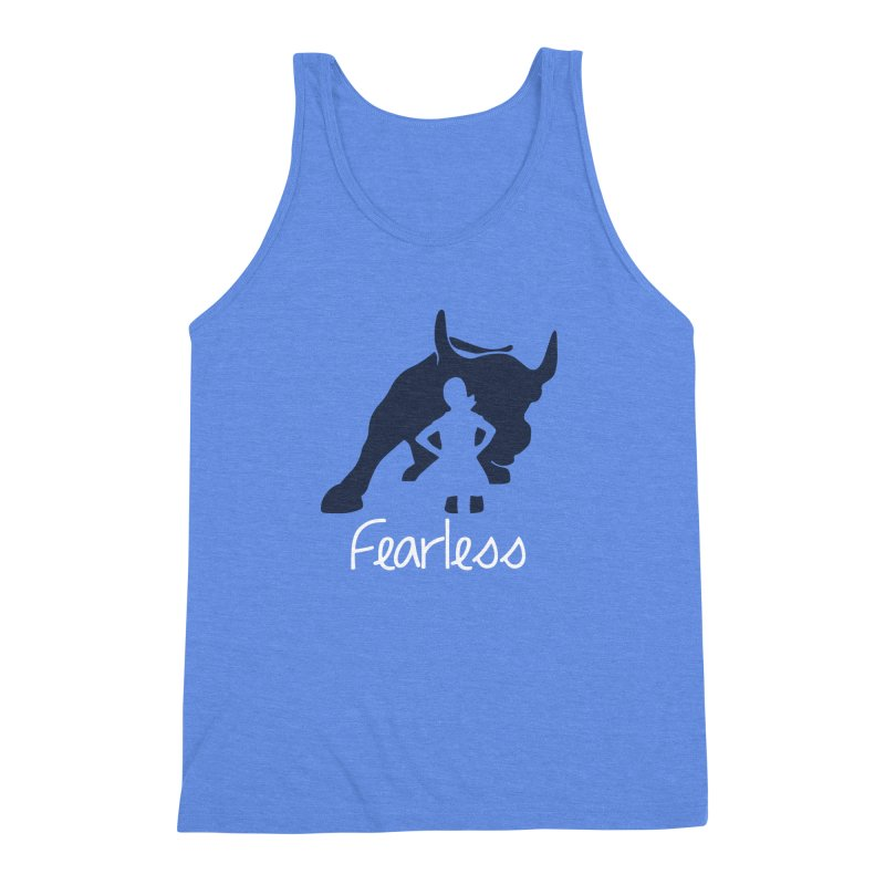 Fearless Girl Men's Triblend Tank by Shop Indivisible