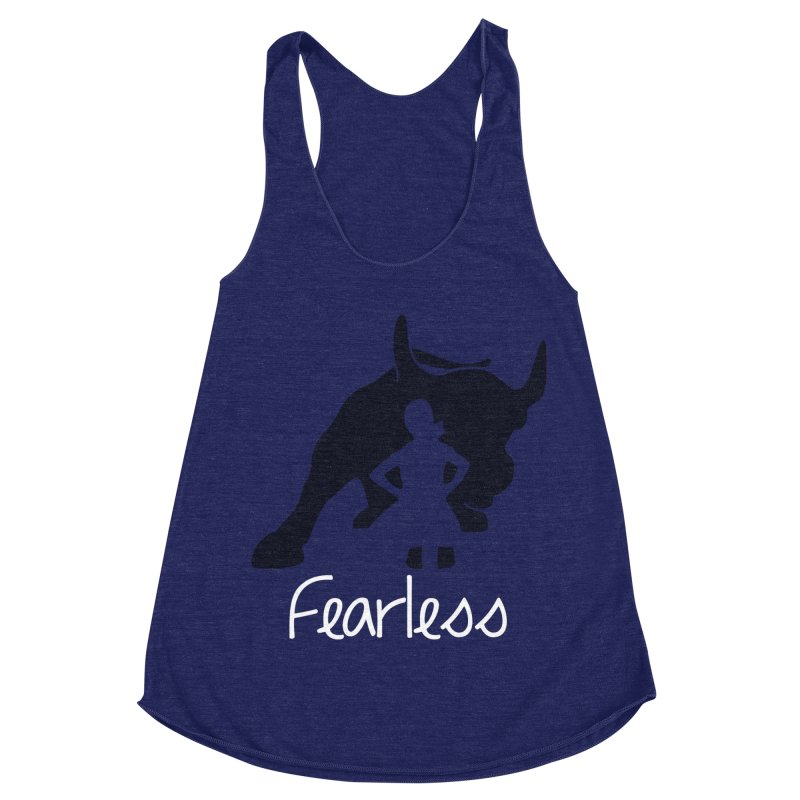 Fearless Girl Women's Racerback Triblend Tank by Shop Indivisible