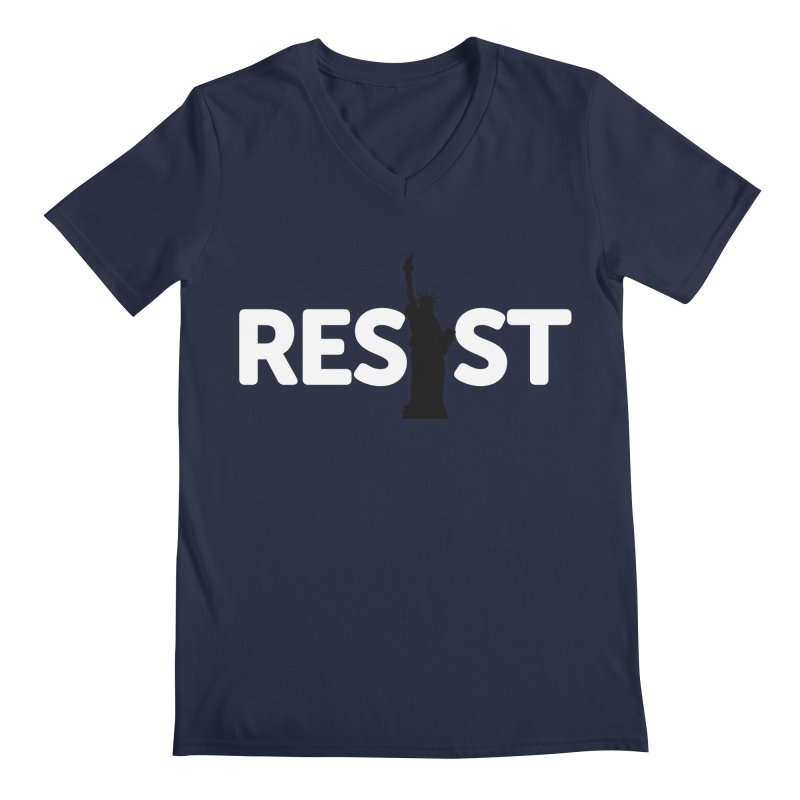 Resist - Liberty Men's V-Neck by Shop Indivisible