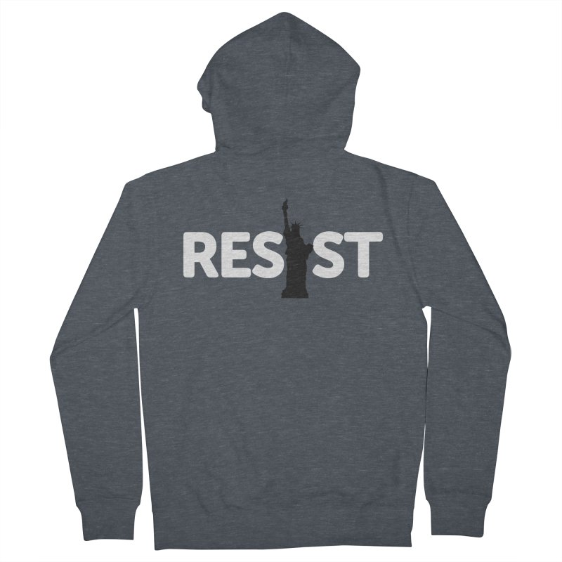 Resist - Liberty Men's French Terry Zip-Up Hoody by Shop Indivisible