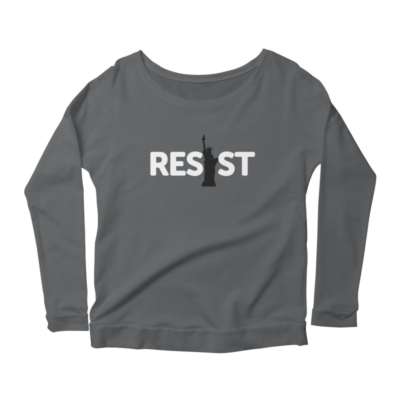 Resist - Liberty Women's Scoop Neck Longsleeve T-Shirt by Shop Indivisible