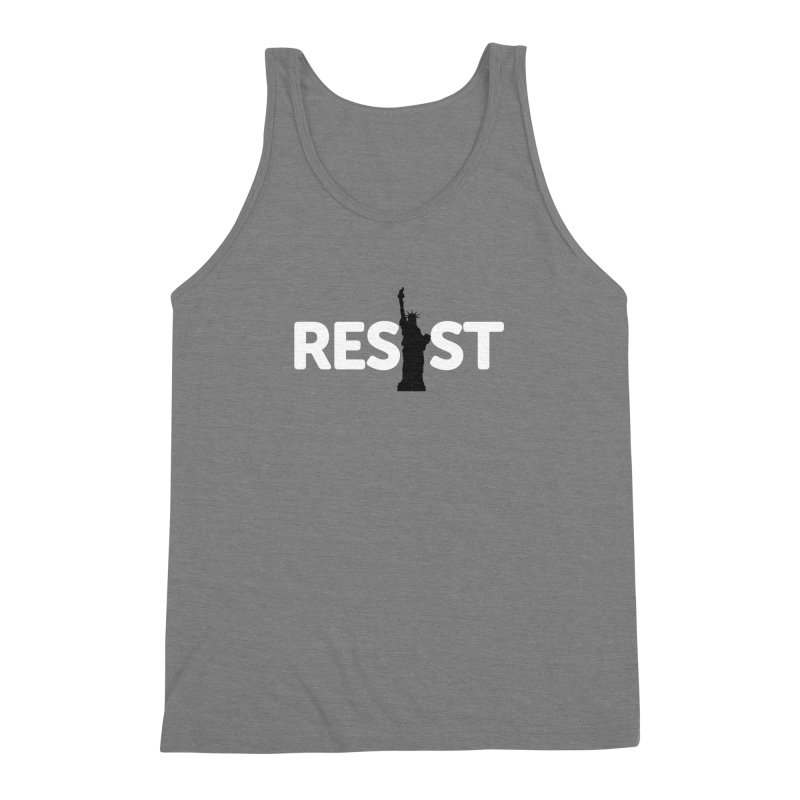 Resist - Liberty Men's Triblend Tank by Shop Indivisible
