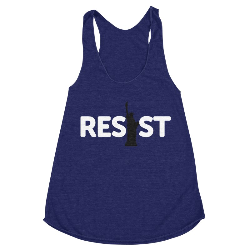 Resist - Liberty Women's Racerback Triblend Tank by Shop Indivisible