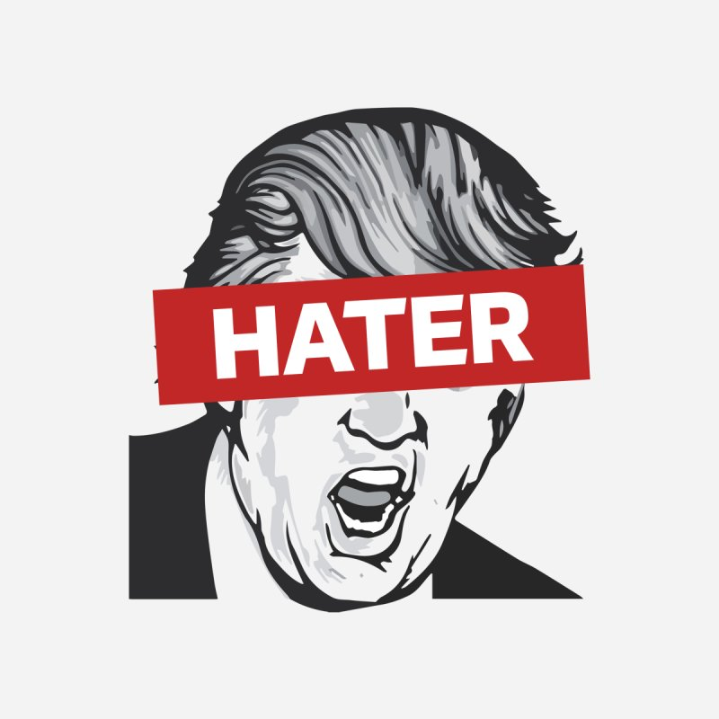 Donald Trump - Hater Resistance T-Shirt Men's T-Shirt by Shop Indivisible