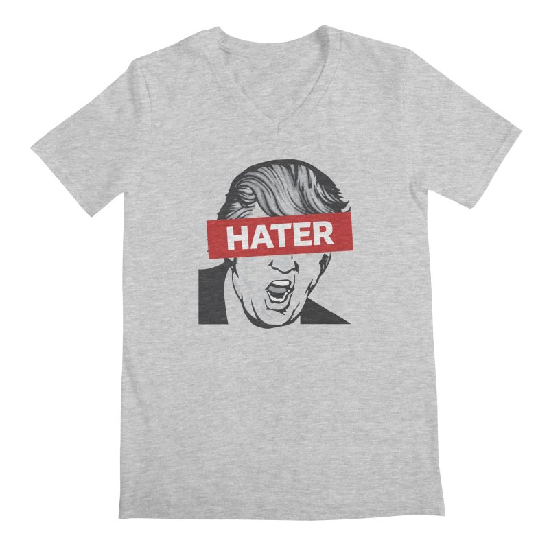 Donald Trump - Hater Resistance T-Shirt Men's Regular V-Neck by Shop Indivisible