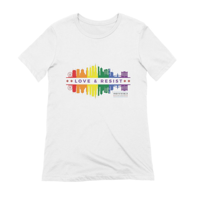 Love & Resist Women's Extra Soft T-Shirt by Indivisible Chicago Store