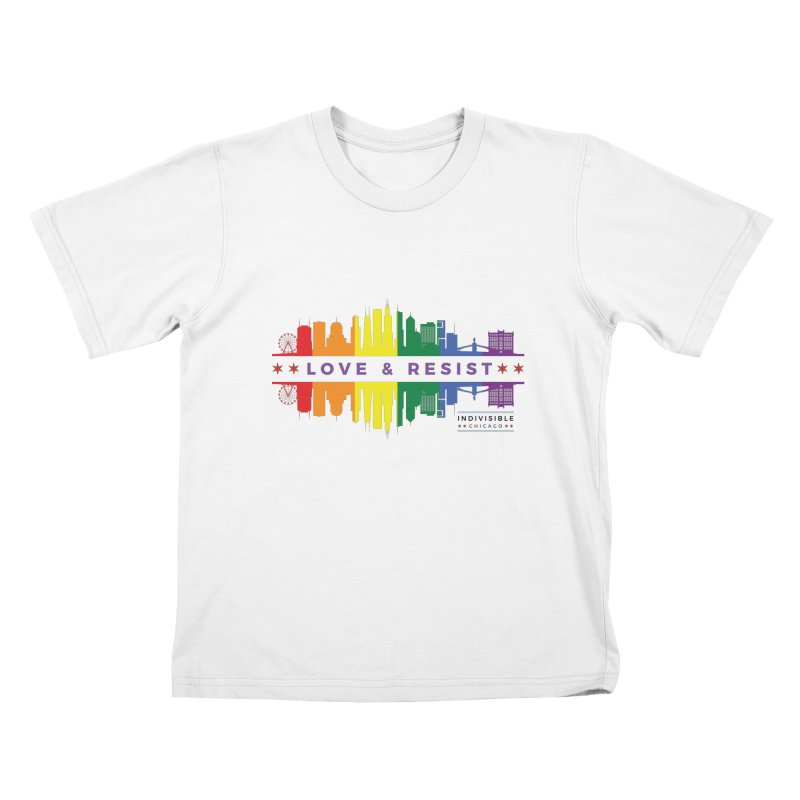 Love & Resist Kids T-Shirt by Indivisible Chicago Store
