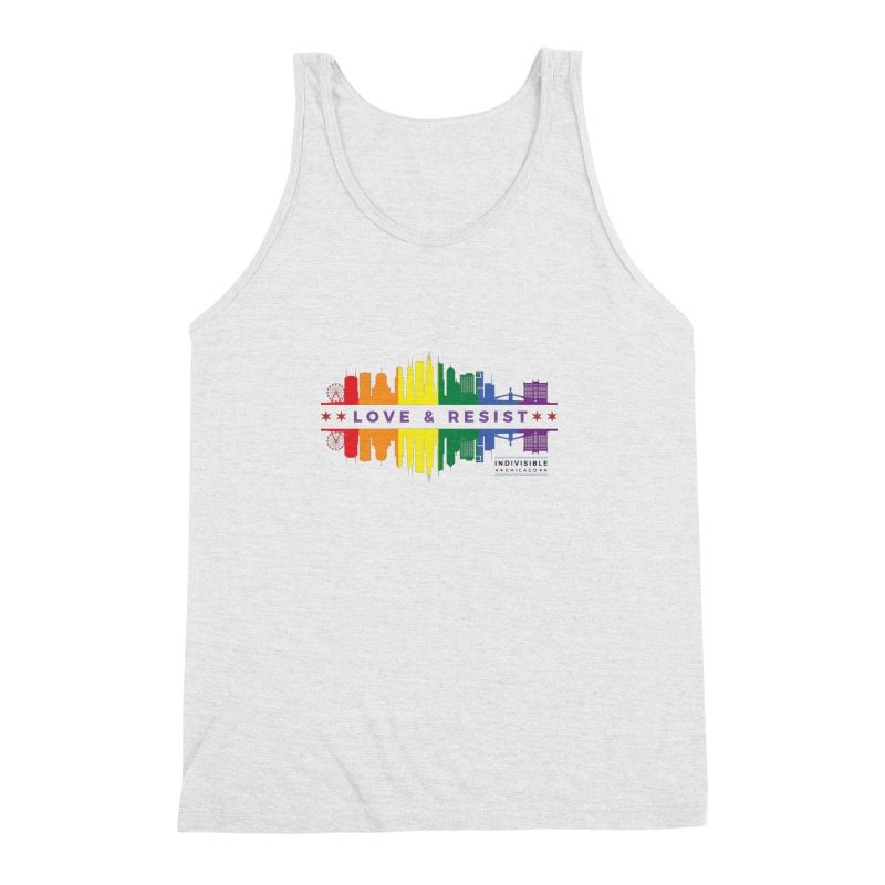 Love & Resist Men's Triblend Tank by Indivisible Chicago Store